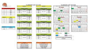 Calendario CADU 2017-2018